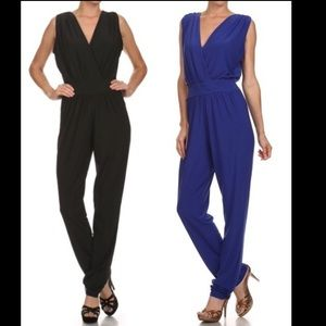 Pants - 🇺🇸Sexy Plunge Back Jumpsuit