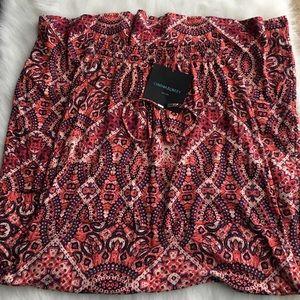 Cynthia Rowley Coral/Red Printed Maxi Skirt