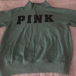 Victoria's Secret PINK Half Zip Up Sweater