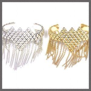 Sunahara Jewelry Jewelry - 🌾Silver Fringe Beaded Cuff Bracelet