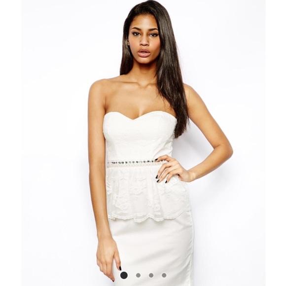 85 Off Asos Dresses Skirts Elise Ryan Gorgeous White