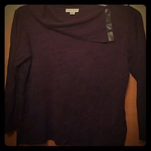 Avenue Sweaters - Avenue Black Cowl Neck Sweater w/button details