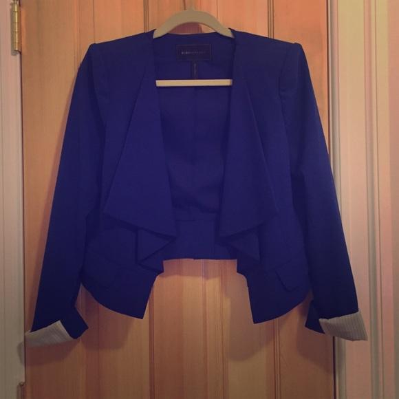 1f9d73fad4f8 BCBGMaxAzria Jackets   Blazers - Royal blue BCBGMaxAzria blazer with draped  collar
