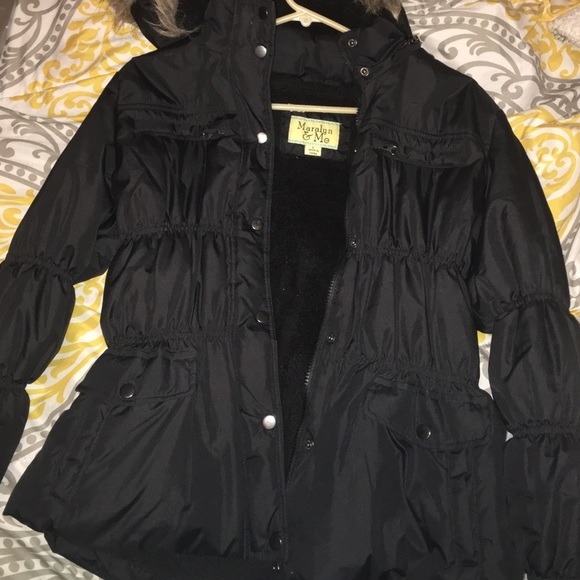 Maralyn & Me Jackets & Blazers - Black puffer jacket
