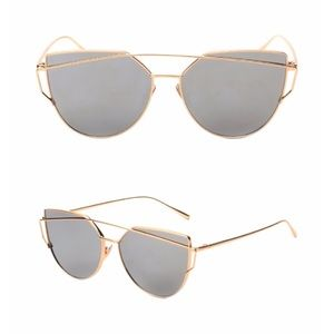 Accessories - Gold Silver Mirrored Aviator Sunglasses