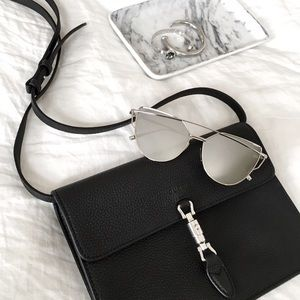 Silver Mirrored Reflective Aviator Sunglasses