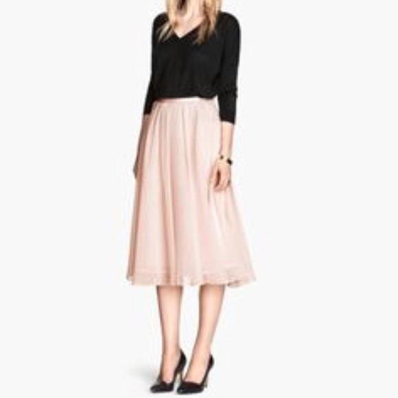 e123dbafb2 H&M Skirts | Hm Blush Tulle Skirt | Poshmark