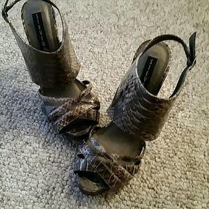 Steven by Steve Madden Shoes - STEVEN by Steve Madden snakeskin heels