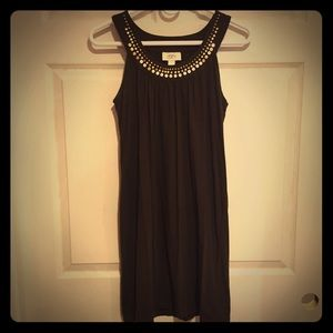 Loft Brown Shift Dress
