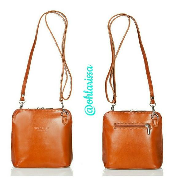 3707073c5c15 Cognac Leather Crossbody Bag