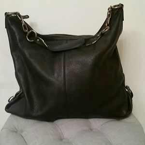 Black leather J.crew hobo style purse