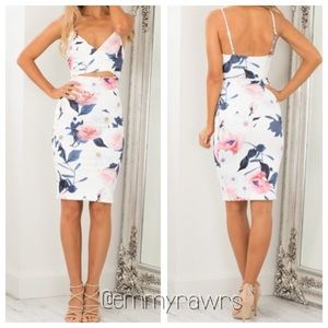 In Stock • Floral Cut Open Dress