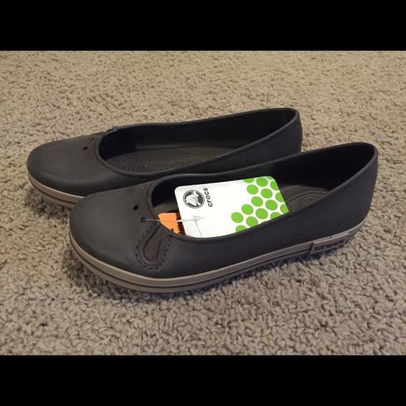 d5b5989c00d76 New Crocs Crocband Flat Brown sz W7