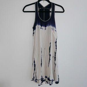 Navy blue tie dye dress
