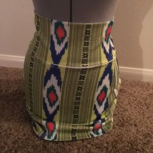 Printed Neon Skirt