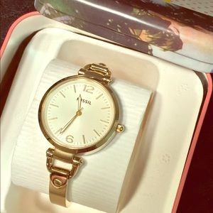 SOLD Fossil Georgia Gold Watch