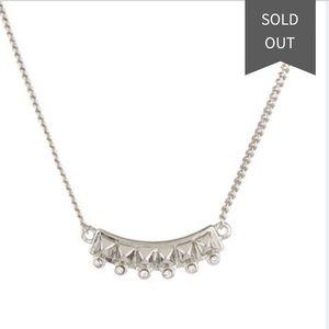 Rebecca Minkoff: Curbs mini stud & crystal pendant