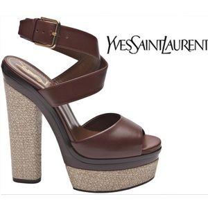 Yves Saint Laurent Shoes - YVES SAINT LAURENT TALL STRAP SANDAL