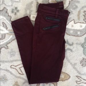 J Brand ZOEY TRIPLE ZIP Skinny Jeans 27