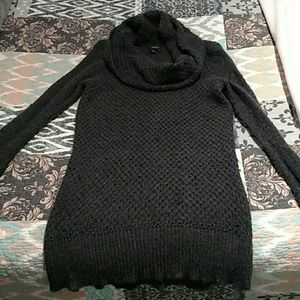 Charcoal grey cowl neck sweater
