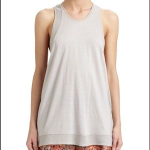 Helmut Lang Gray Chrome Jersey Tank Large NWT