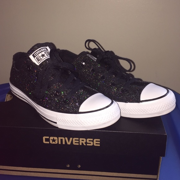 3bf679875e99 Converse Shoes - Black sparkle Converse All-Stars shoes