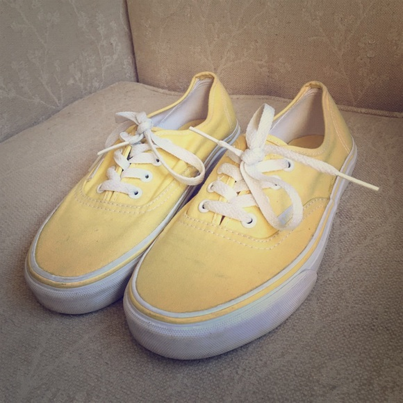 womens yellow vans shoes