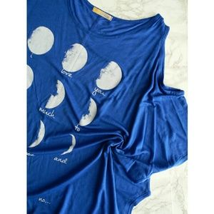 Blue Moon Cold Shoulder Drapey Top CLEARANCE