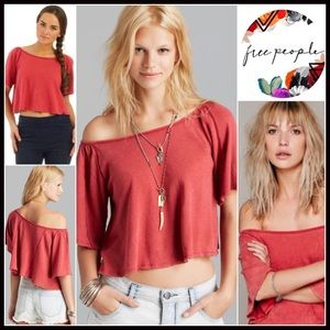 Free People Crop Top Tee Cropped
