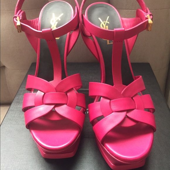 431bfb9bad Saint Laurent Shoes | Ysl Classic 105 Fuchsia Tribute Platform ...