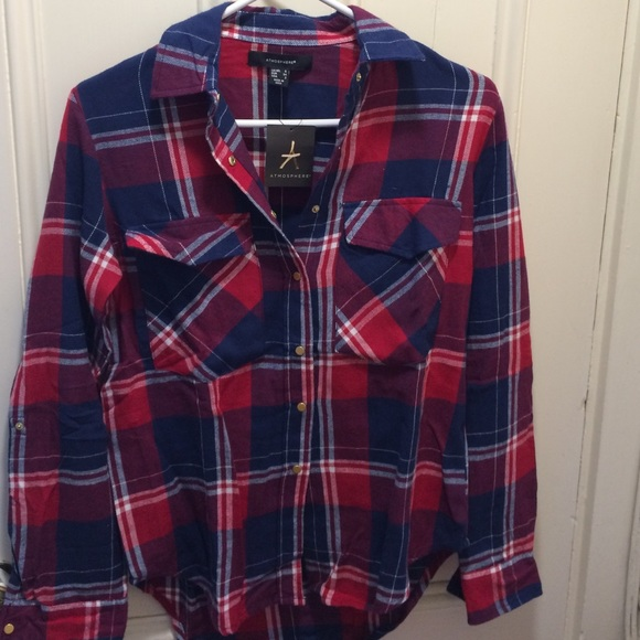 e800dc24276b49 PRIMARK Tops | Atmosphere Red And Blue Plaid Shirt | Poshmark
