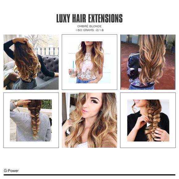 Luxy Hair Extensions Accessories Luxyhairext Ombr Blonde 160 Grams