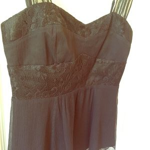 Black Silk Lace Top