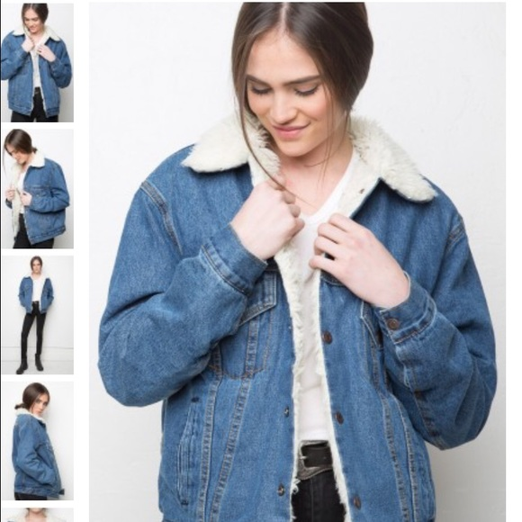 Brandy Melville - Anri fur denim jacket from Texas's closet on ...