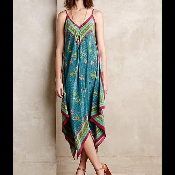 Anthropologie Dresses Anthro Handkerchief Dress Poshmark