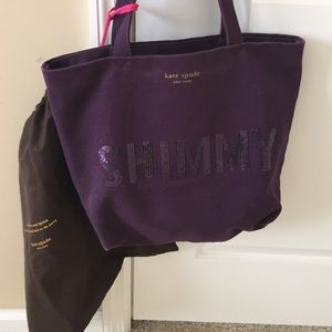 Kate Spade Purple Shimmy Tote