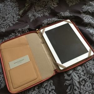 Rust/Coral Textured Leather iPad Case
