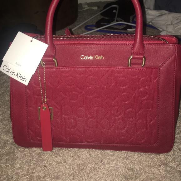 70bab35f106 calvin klein handbags red Calvin Klein Bags   Nwt Red Purse   Poshmark