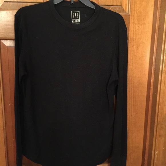 Gap gap black men 39 s long sleeve shirt size medium from for Mens medium long sleeve shirts