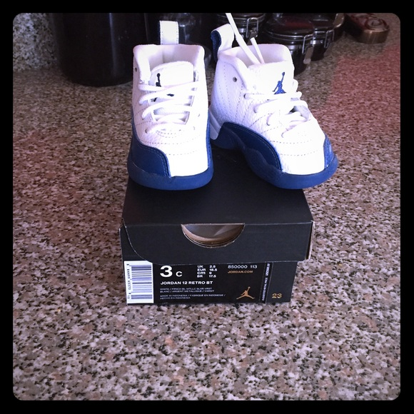 promo code 1cb65 12186 Infant Jordan retro 12 French blue and White NWT