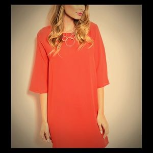 Rust color shirt dress size Small