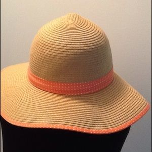 Collection 18 Accessories - Peach Polka Dot Floppy Sand Hat