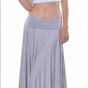 Pastels Clothing Dresses & Skirts - soft maxi gray asymmetrical skirt, have black too