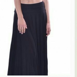 Pastels Clothing Dresses & Skirts - Last 1 Soft black Maxi asymmetrical skirt, gray 2