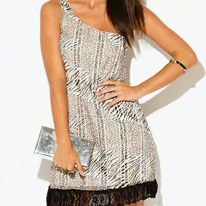 By coii | Sexy off shoulder Animal print dress HP