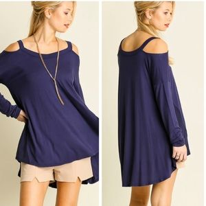 •open shoulder tunic•
