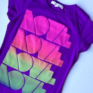 Forever 21 Tops - LOVE LOVE LOVE LOVE Graphic Tee
