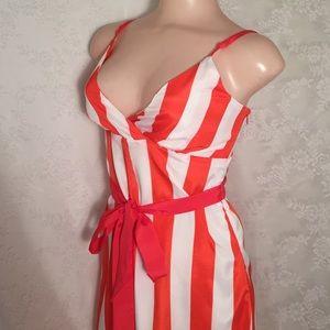 Marineblu Pants - Orange and white striped  Jumpsuit FINAL CLEARANCE