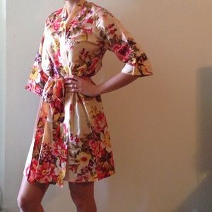 Elegant Floral cotton robes