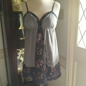 silence + noise Dresses & Skirts - Cute Summer Halter Dress with Floral Print Accent